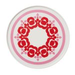 Red & Pink Flower Bold Plate