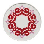 Red & Pink Flower Plate