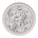 Pink & White Chinoiserie Plate