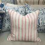Georgia McMillan Campania Double Pink Stripe Cushion Medium