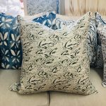 Georgia McMillan Feathered Nest Olive Cushion