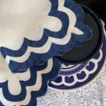 Georgia MacMillan Scallop Napkins Indigo, Set of Four