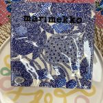 Marimekko Mynsteri Cream Blue Paper Napkins Pack of 20