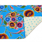 Ben Elke Set of 4 Double sided Placemats in Sweet Flower Blue