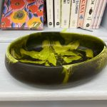 Dinosaur Designs Small Resin Rock Bowl – Malachite