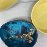 Dinosaur Designs Small Resin Rock Bowl – Moody Blue